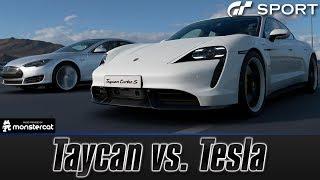 Gran Turismo Sport: Porsche Taycan Turbo S vs. Tesla Model S Performance   ELON MUSK SCREWED UP