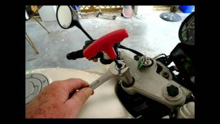 Replacing ignition switch BMW motorcycle