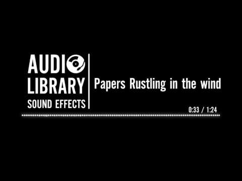 Papers Rustling in the wind - Sound Effect