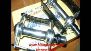 Vintage Campagnolo Pista Pedals, Super Leggeri Track Fixed Gear Pedals, Super Record Campy