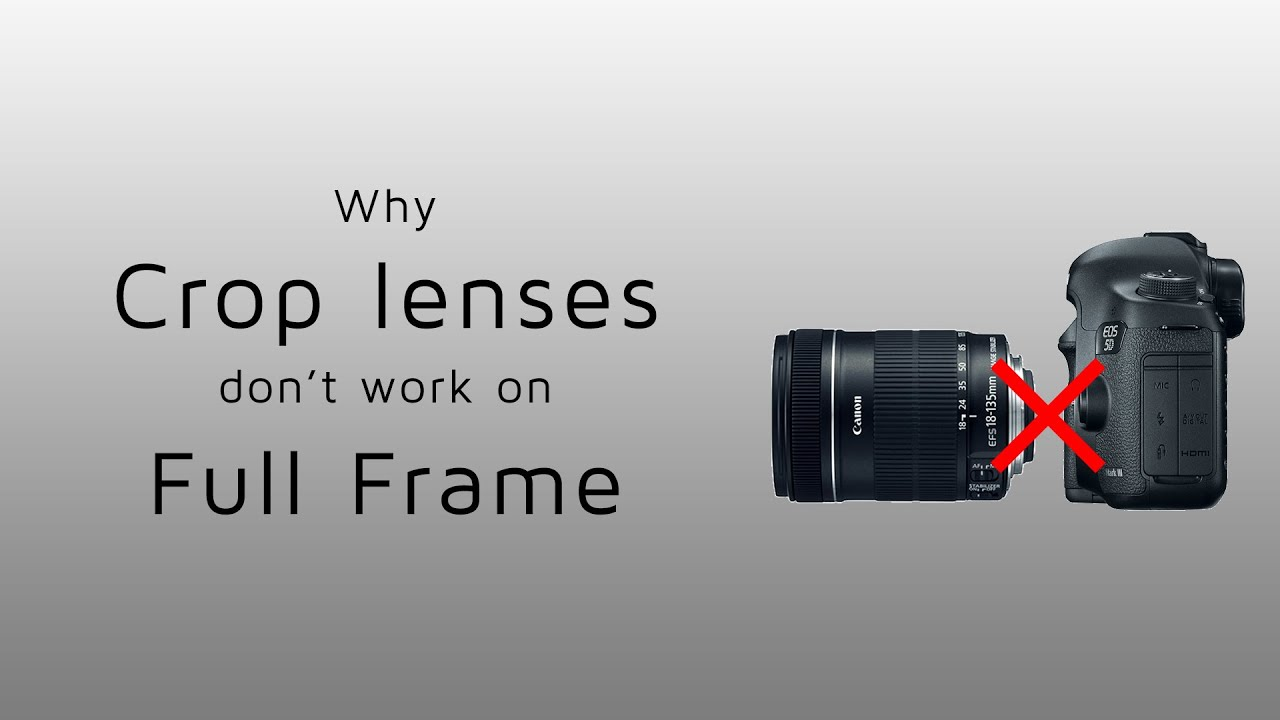 Why Crop lenses don\'t work on Full Frame cameras - YouTube