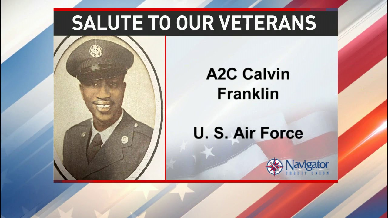 Salute to our veterans: Airman Second Class Calvin Franklin - NBC 15 WPMI