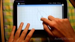AutoQ3D CAD for Android running on a tablet