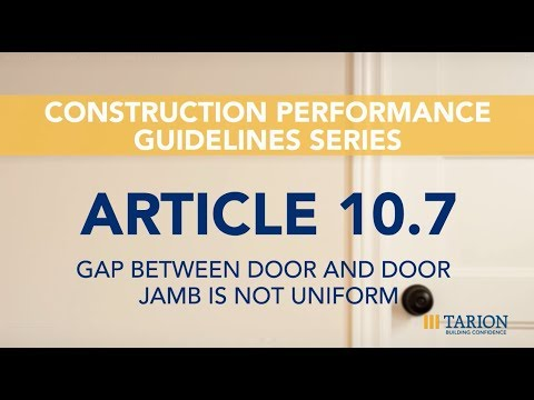 Exceptionnel Article 10.7: Gap Between Door And Door Jamb Is Not Uniform