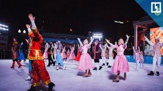 Ледовое шоу в центре Москвы