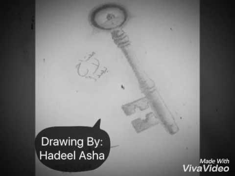 رسم مفتاح بالرصاص