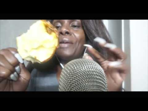 🍬🍎  Candy Apple ASMR Eating Sound 🍎  💦 Caramel