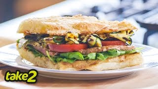 Quick & Easy Steak Sandwich With Char-grilled Zucchini And Rocket