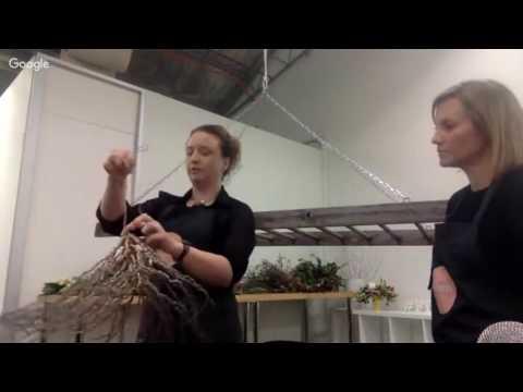 Hanging Flower Installations - Bloom TV LIVE 25/7/16