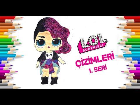Rocker Lol Bebek Boyama Simli Lol Baby Painting Glitter Youtube
