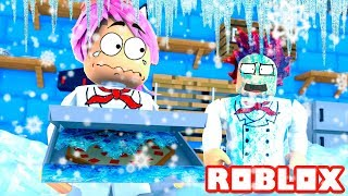 COOKING IN THE NORTH POLE ❄️🍳😱 Roblox Dare to Cook Español
