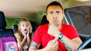 Hurry UP to school - story from Nadia and Dad | Song for kids!