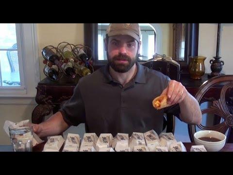 """18 Taco Bell Taco Waffles Eaten In 6 Minutes   Jamie """"The Bear"""" McDonald"""
