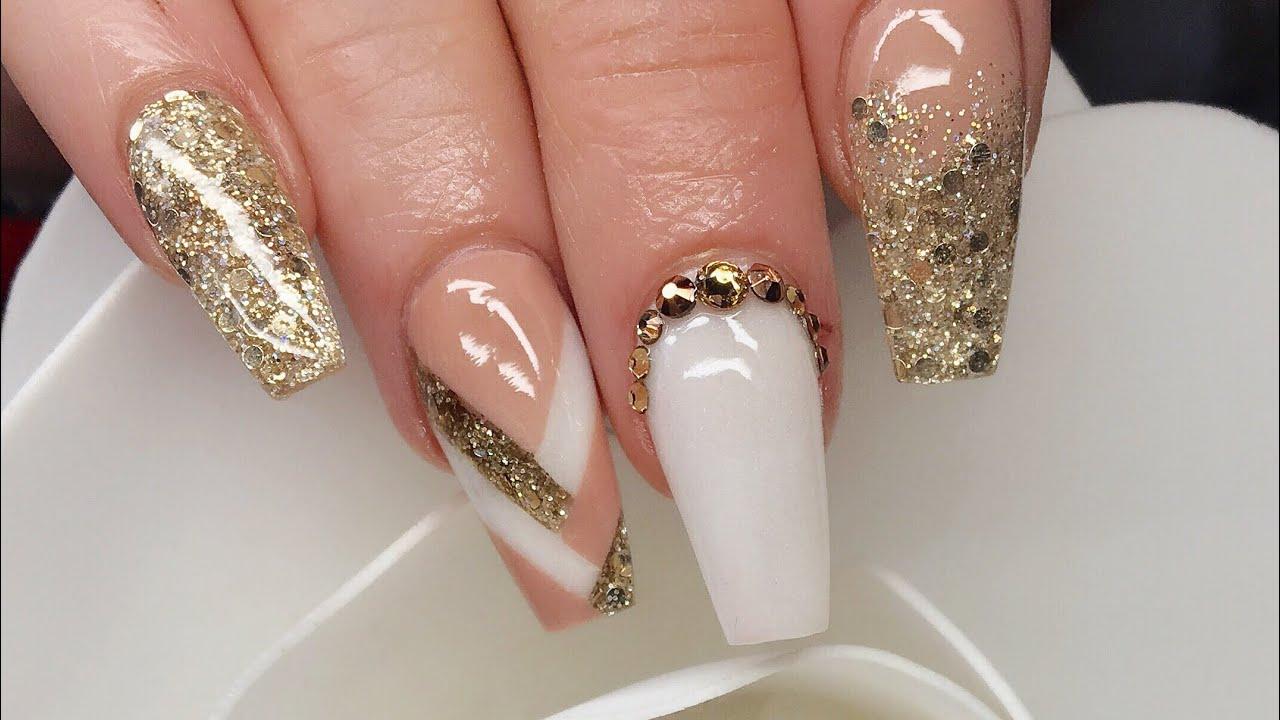 Acrylic Nails | Braid Nail | Colour blocking | Acrylic Plait - YouTube