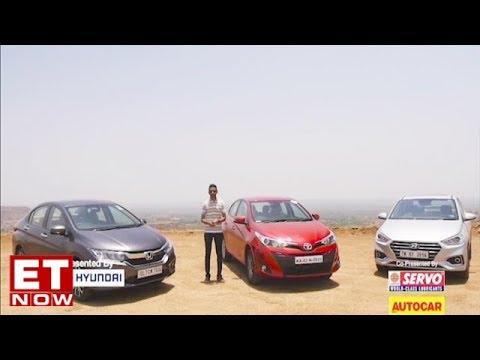 Toyota Yaris Vs Hyundai Verna Vs Honda City | Comparison Test Review | Autocar India
