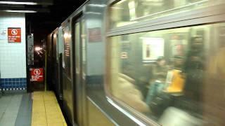 IRT Nostrand Avenue Line: Manhattan bound R-62 3 local train leaving Brooklyn College-Flatbush Av!