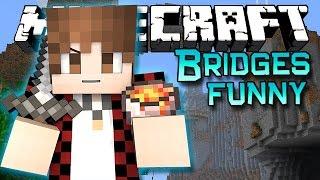 Minecraft: Bridges FUNNY Voice Challenge PVP Mini-Game!