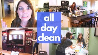 ENTIRE DOWNSTAIRS CLEANING MOTIVATION // CLEANING MOM