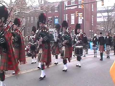 Saint Andrew Society perform in 2012 Scottish Christmas Walk in Alexandria, Va.