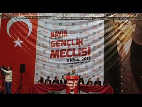 Gençlik Meclisi, Abdüllatif Sener Ve Gürcan Dagtas Konuşması