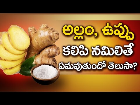 Amazing Health Benefits of GINGER and SALT   Best Home Remedies for Cough   Health Facts Telugu
