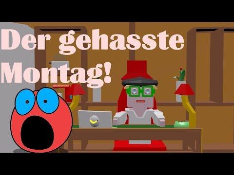 Ich hasse Montag - Wenn der Montag eine Figur wäre - lustige Animation