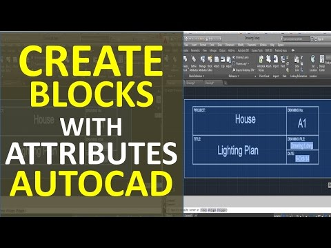 Create Blocks with Attributes in AutoCAD Ex. Plan Title Description
