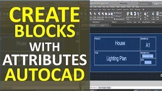 Create Blocks with Attributes in AutoCAD Ex. Plan Title Description