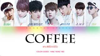 BTS ( 방탄소년단 ) - Coffee ( Ind|Han|Rom )  Indo Sub | Color Coded Lyrics