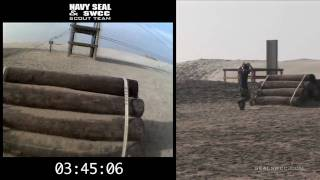 NAVAL SPECIAL WARFARE TRAINING: OBSTACLE COURSE HELMET CAM