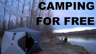 Free Camping On Public Land With Tent And Wood Stove