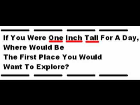 if i were one inch tall