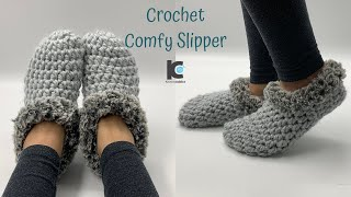 Crochet Comfy Slipper ( Free pattern )