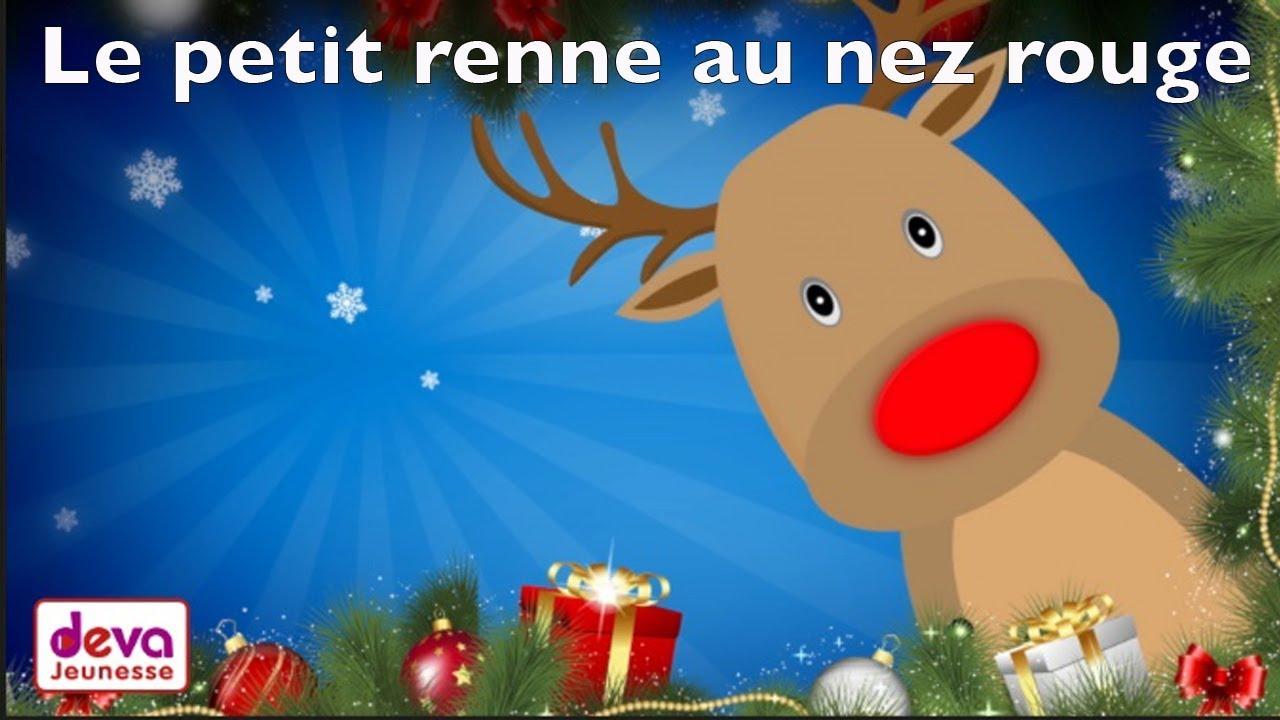 Le petit renne au nez rouge chanson de no l avec paroles - Dessin de renne au nez rouge ...
