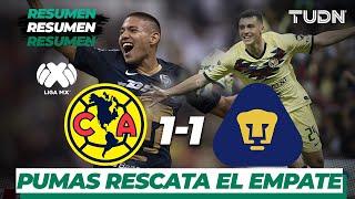 Resumen y Goles | América 1 - 1 Pumas UNAM | Liga MX - Apertura 2019  - Jornada 9 | TUDN