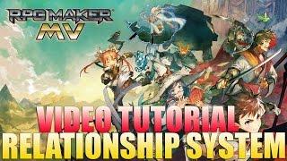 RPG Maker MV Tutorial: Relationship/Friendship/Time/Sim-Like System