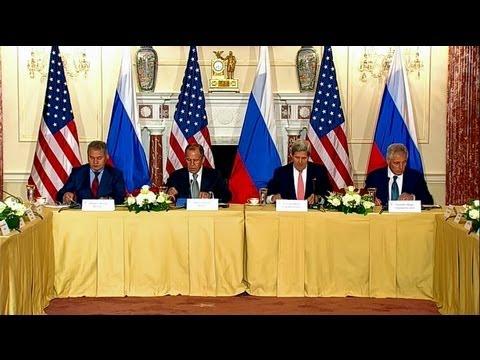 Secretary Kerry Meets With Secretary Hagel, Russian FM Lavrov and Russian DM Shoygu
