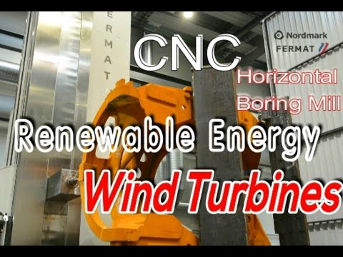Renewable Energy, Boring, Manufacturing, Milling, Machining Wind Turbines at Nordmark, Green Energy