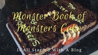 HOW TO MAKE A MONSTER BOOK OF MONSTERS HARRY POTTER CAKE It All Started With A Blog