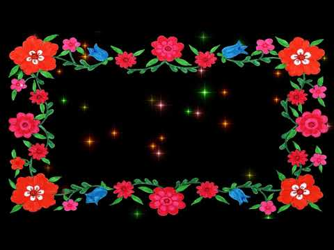 FLOWERS AND STARS PICTURE FRAME BLACK SCREEN EFFECT 5