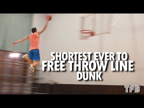 """6'0"""" """"Shal"""" is the Shortest Person to LEGIT FREE THROW LINE DUNK"""