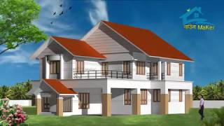 Modern style beautiful house with veranda designs !! Bangladeshi & Indian style. Must watch.