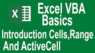 excel vba programming Basics Tutorial # 2 | Introduction to Cells,Range and active cell