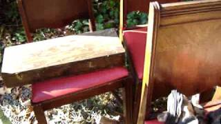 Flea Market Haul Video #25 Antique Table And Chairs