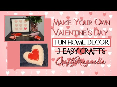 Dollar Tree DIY EASY & FUN Home Decor | Valentine's Day DIY - #JanThriftyCraftingThursday