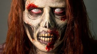 Walking Dead Inspired Zombie Makeup Tutorial by Goldiestarling (Only FACEPAINT- No Prosthetics)