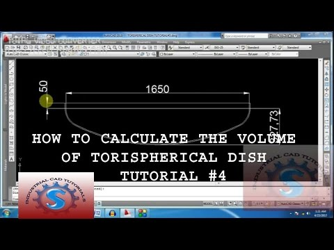 Calculate the Volume of Ellipsoidal Head or Dish (2:1)