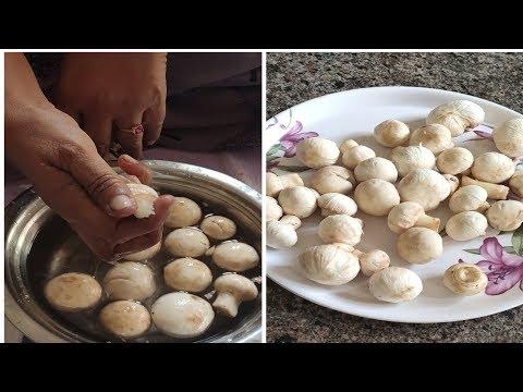 పుట్టగొడుగులు ని  ఈ  విధంగా  శుభ్రం  చేసుకోండి ||how to clean mushrooms