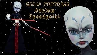 OOAK Star Wars Asajj Ventress Custom Speedsculpt and Speedpaint Video