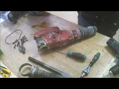 How to deassemble Hilti TE hammer drill gears, armature, ball bearings, carbon brushes